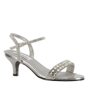 Dyeables Womens Sage Silver Metalllic Sandals Prom and Evening Shoes