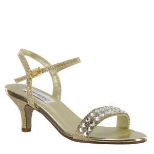 Dyeables Womens Sage Gold Metalllic Sandals Prom and Evening Shoes