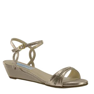 Dyeables Womens Mallory Nude Metalllic Sandals Prom and Evening Shoes