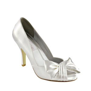 Dyeables Womens Liv White Satin Sandals Prom and Evening Shoes