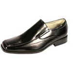 Giorgio Venturi Mens 4940 Black Leather Slip On Dress Shoes