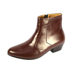 Ditalo Mens 5632 Brown Leather Boot Dress Shoes