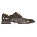 Giorgio Venturi Mens 5925 Grey Leather Oxford Dress Shoes