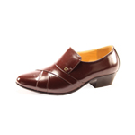Ditalo Mens 6263 Brown Leather Slip On Dress Shoes