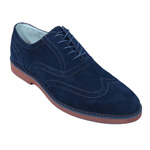 Giovanni Mens 6597 Navy Suede Wingtip Dress Shoes