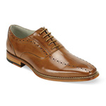 Giovanni Mens ALFO Cognac Leather Oxford Dress Shoes