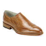 Giovanni Mens ARMO Tan Leather Slip On Dress Shoes