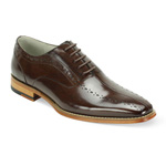 Giovanni Mens ALFO Chocolate Leather Oxford Dress Shoes