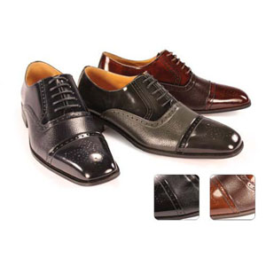 Giorgio Venturi Mens 5925 Black Leather Oxford Dress Shoes