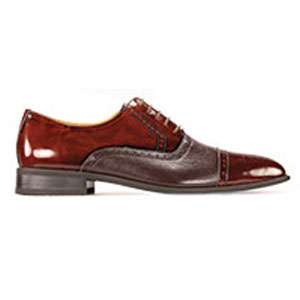 Giorgio Venturi Mens 5925 Burgundy Leather Oxford Dress Shoes