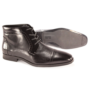 Giorgio Venturi Mens 6475 Black Leather Boots Dress Shoes