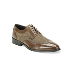Giovanni Mens 6484 Brown Leather Oxford Dress Shoes