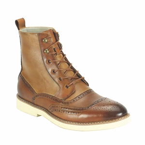 Giovanni Mens 6598 Tan Leather Boot Dress Shoes