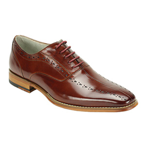 Giovanni Mens ALFO Burgundy Leather Oxford Dress Shoes