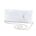 Dyeables Womens 1805 White Satin   Wedding Handbags