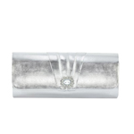 Dyeables Womens 3613 Silver Synthetic   Evening and Prom Handbags