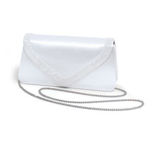 Dyeables Womens 734 White Satin   Wedding Handbags