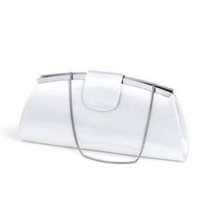 Dyeables Womens 1710 White Satin   Wedding Handbags