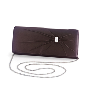 Dyeables Womens 1805 Chocolate Satin   Wedding Handbags