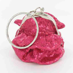 Helens Heart Womens FP-08196 Fuchsia Sequin   Casual Handbags