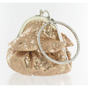 Helens Heart Womens FP-08196 Champagne Sequin   Casual Handbags