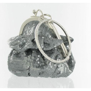 Helens Heart Womens FP-08196 Grey Sequin   Casual Handbags