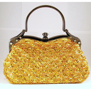 Helens Heart Womens FP-4491 Gold Beaded   Casual Handbags