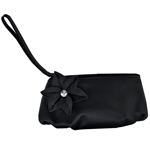 Touch Ups Womens Hazel Black Satin   Wedding Handbags