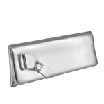 Touch Ups Womens Heather Silver Satin   Wedding Handbags