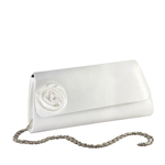 Touch Ups Womens Casey White Satin   Wedding Handbags