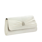 Touch Ups Womens Brandy White Satin   Wedding Handbags