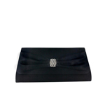 Touch Ups Womens Brandy Black Satin   Wedding Handbags