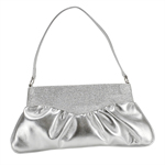 Touch Ups Womens Lorraine Silver Synthetic   Evening and Prom Handbags