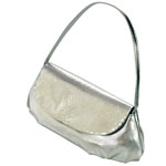 Touch Ups Womens Lori Silver Synthetic   Evening and Prom Handbags
