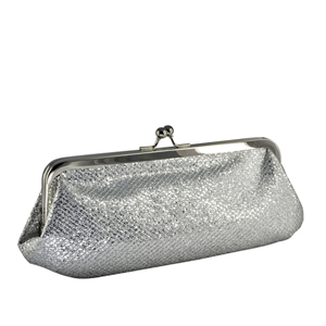 Touch Ups Womens Farah Silver Synthetic   Evening and Prom Handbags