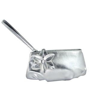 Touch Ups Womens Hazel Silver Satin   Wedding Handbags