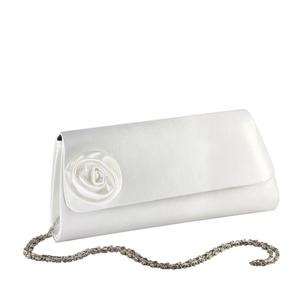 Touch Ups Womens Casey White Satin   Wedding Handbags