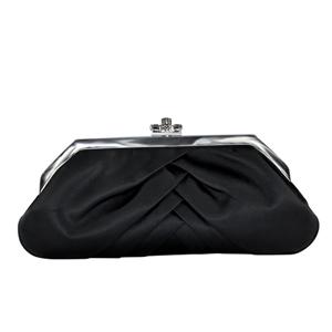 Touch Ups Womens Shiloh Black Satin   Wedding Handbags