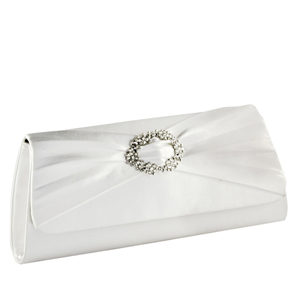 Touch Ups Womens Noelle White Satin   Wedding Handbags