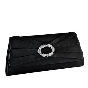 Touch Ups Womens Noelle Black Satin   Wedding Handbags