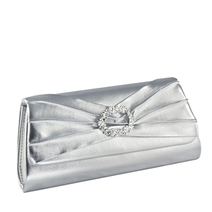 Touch Ups Womens Noelle Silver Satin   Wedding Handbags