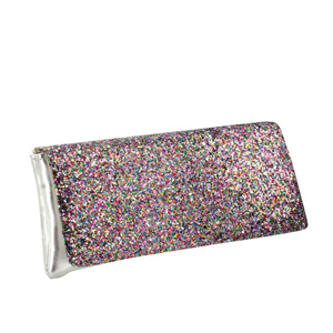 Touch Ups Womens Fallon Fuchsia Multi Satin   Prom and Evening Handbags