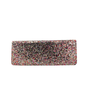 Touch Ups Womens Fallon Multi-Color Satin   Prom and Evening Handbags