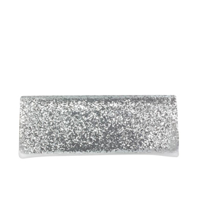 Touch Ups Womens Fallon Silver  Satin   Prom and Evening Handbags