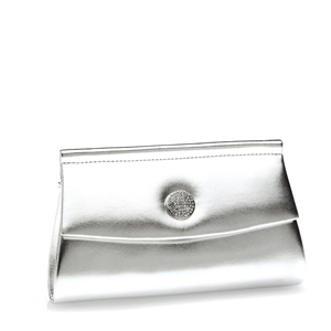 Touch Ups Womens Joanie Silver Metalllic   Evening and Prom Handbags