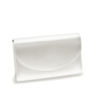 Touch Ups Womens Sandy White Satin   Wedding Handbags