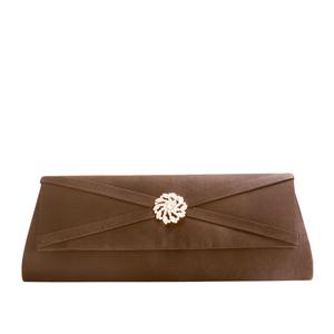 Touch Ups Womens Carson Brown Satin   Wedding Handbags