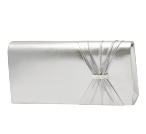 Touch Ups Womens Leona Silver Synthetic   Evening and Prom Handbags