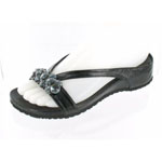 Helens Heart Womens CFW-318 Black Beaded Sandals Casual Shoes