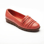 Helens Heart Womens CFW-809-1 Coral Leather Closed Toe Casual Shoes